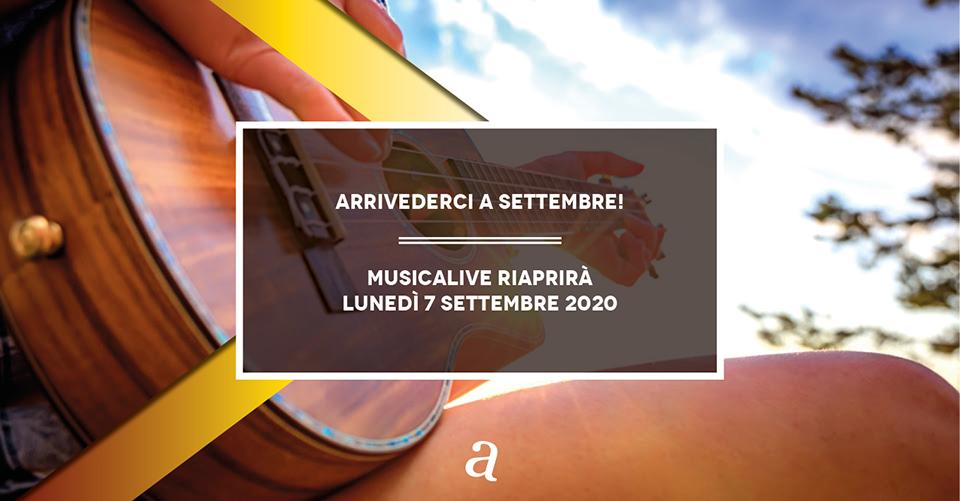 Musicalive | Scuola di musica | Arrivederci a Settembre
