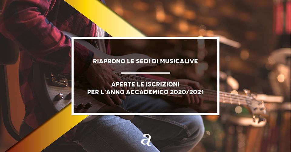 Musicalive | Riaprono le sedi di Musicalive - 2020/2021